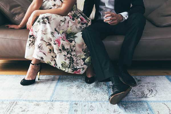 indoors spring formal props engagement photo idea