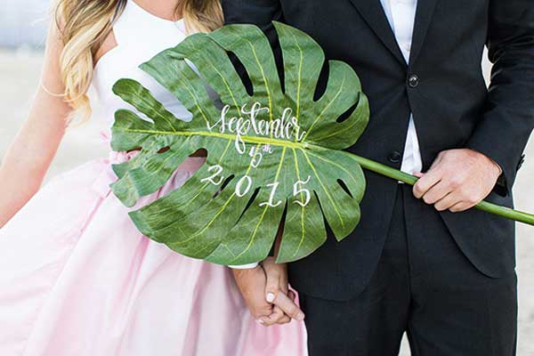 outdoors summer formal props engagement photo idea