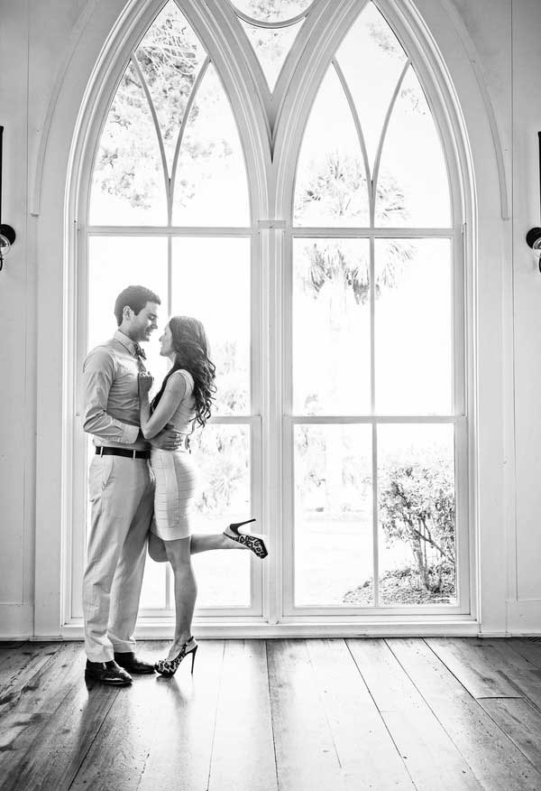 indoors summer formal  engagement photo idea
