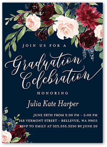graduation invitation wording sample