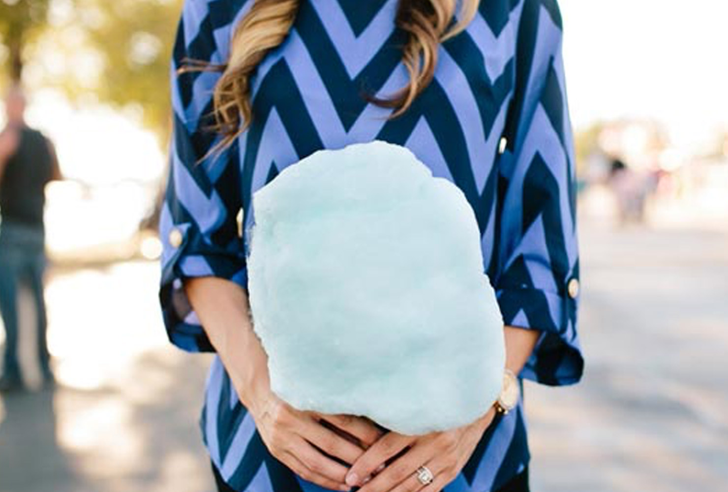 gender reveal ideas blue cotton candy