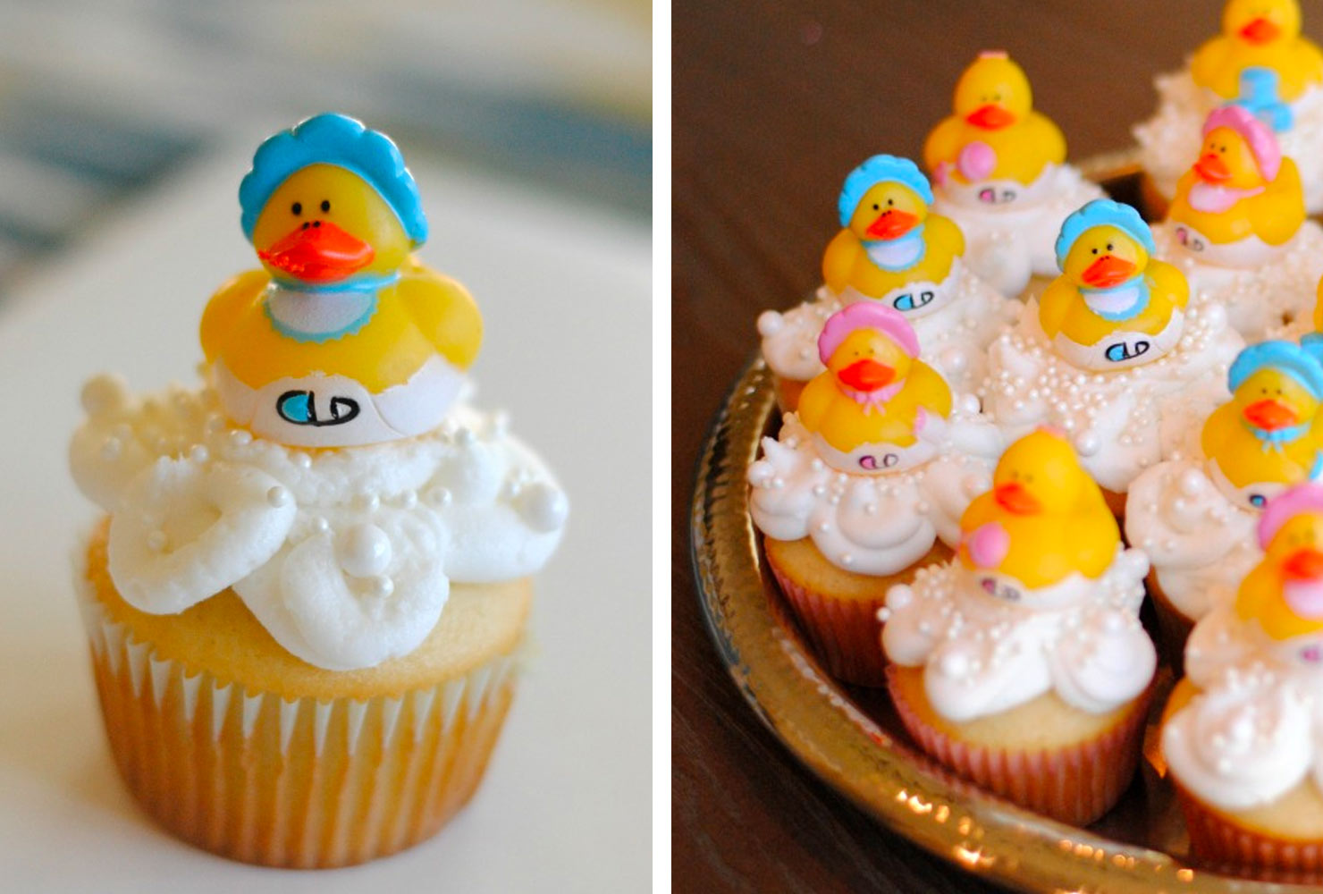 gender reveal ideas chick cupcakes