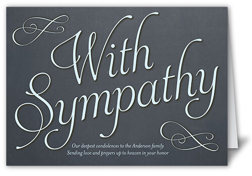 heartfelt sympathy card with custom message