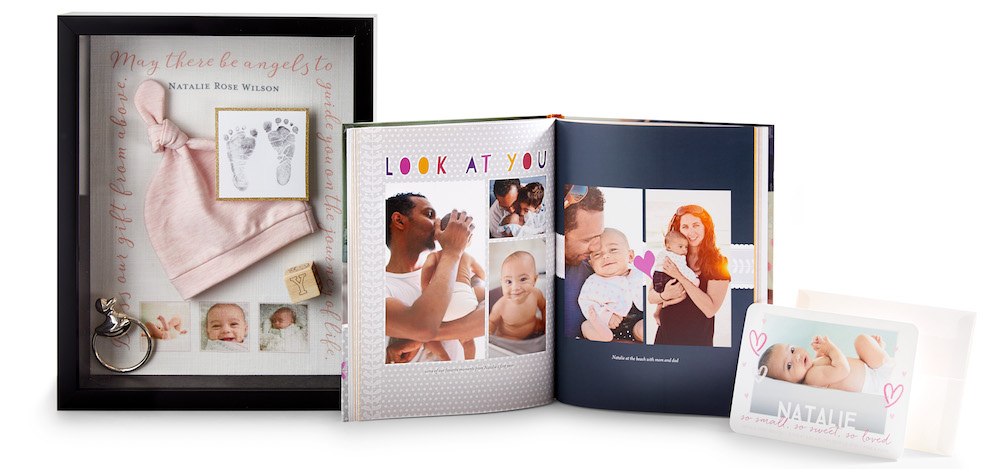 baby shower photo book, messages, and memories