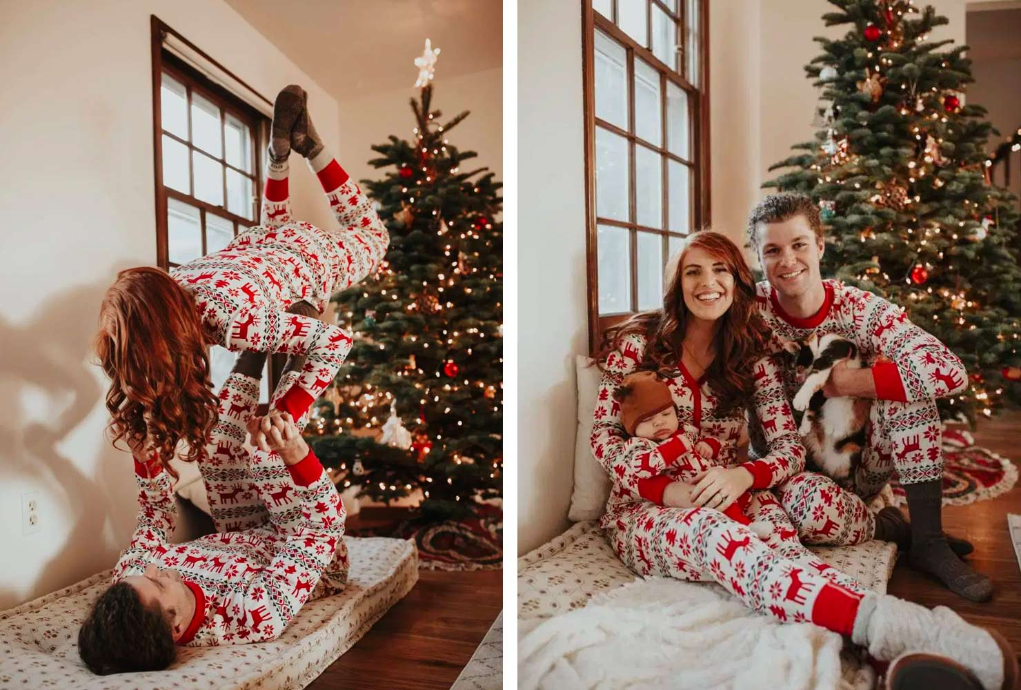 christmas photo ideas matching pajamas.
