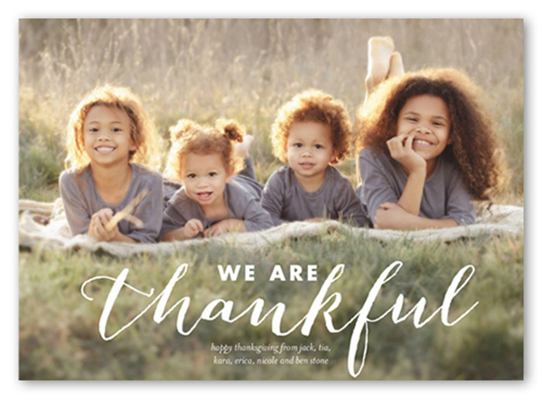 thanksgiving card with photo