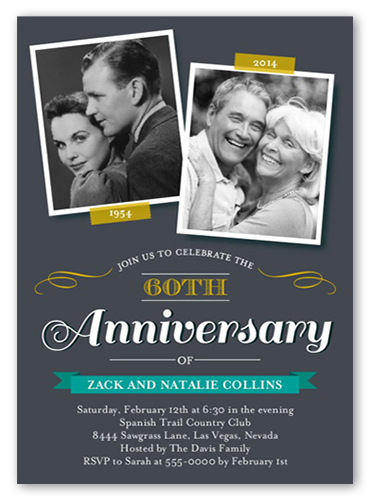 a sample anniversary card from Shutterfly