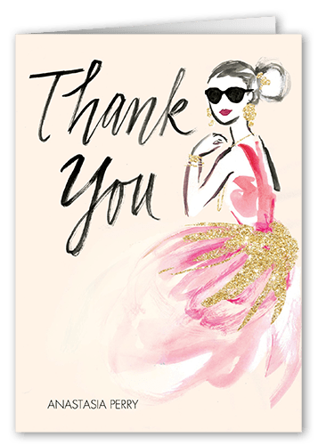 Bride vibes thank you card from Shutterfly for what to write in a bridal shower thank you card