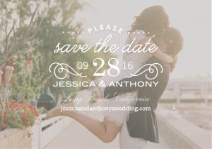 Clear Beauty Save the Date from Shutterfly