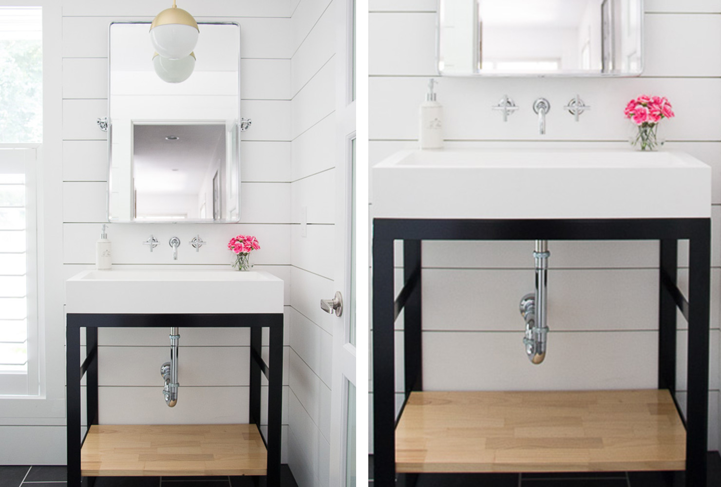 decorate small bathroom modern white sink
