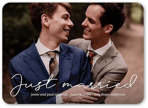 extended expression wedding announcement card landscape