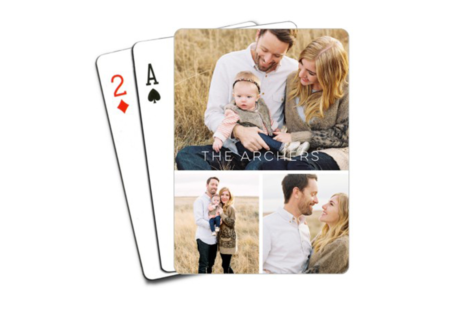family photo playing cards creative DIY gift ideas
