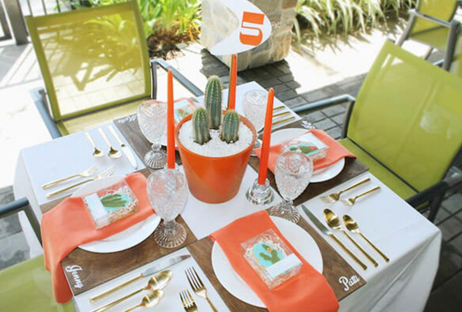 baby boy baby shower cactus table