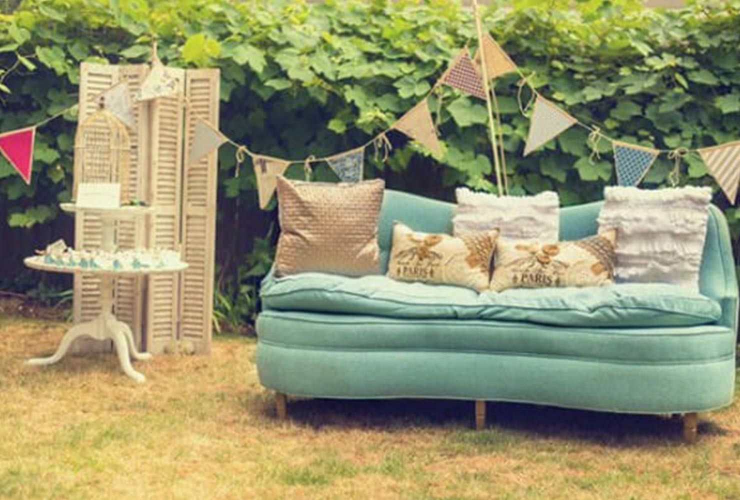 baby boy baby shower outdoor couch
