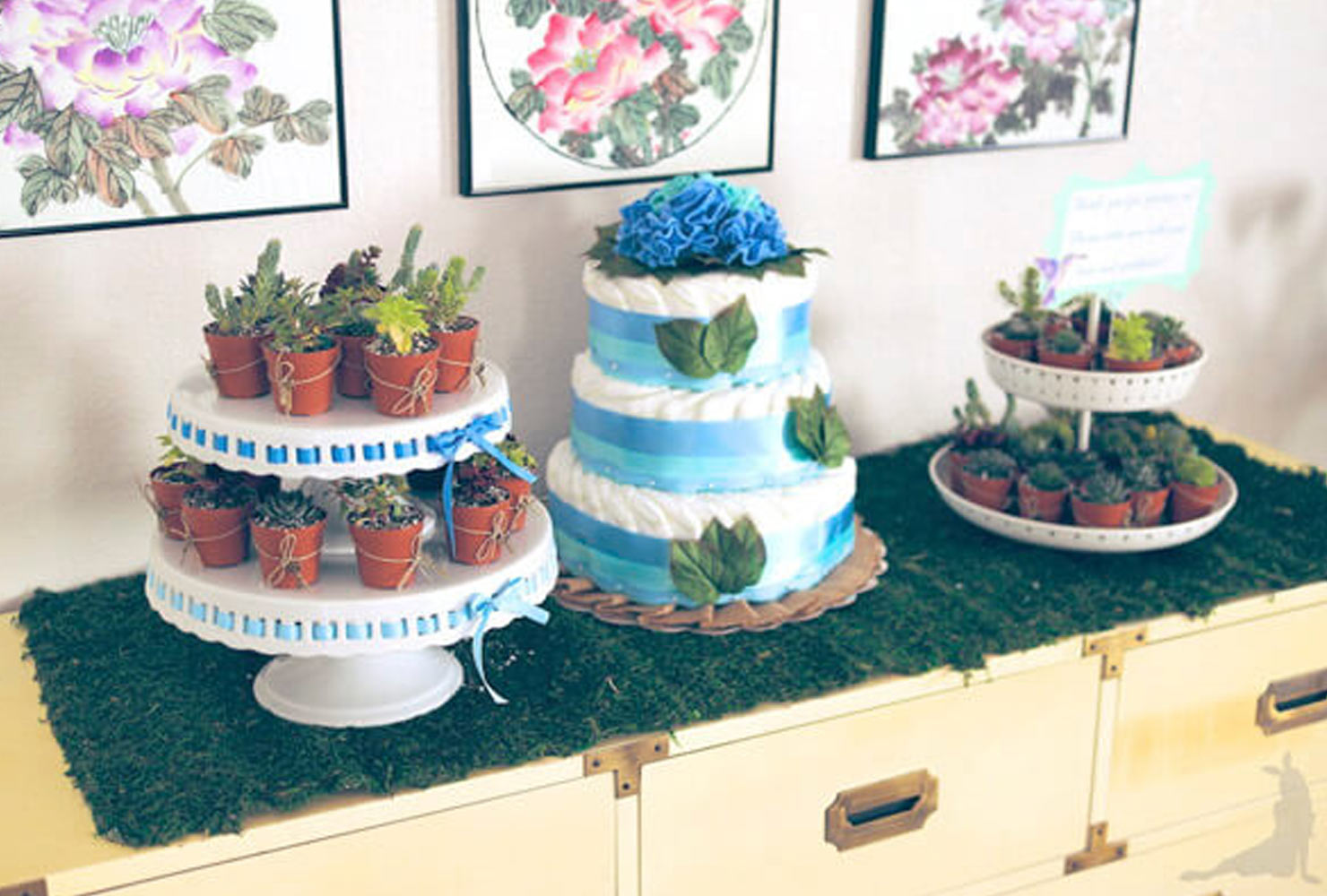 baby boy baby shower plant theme foods