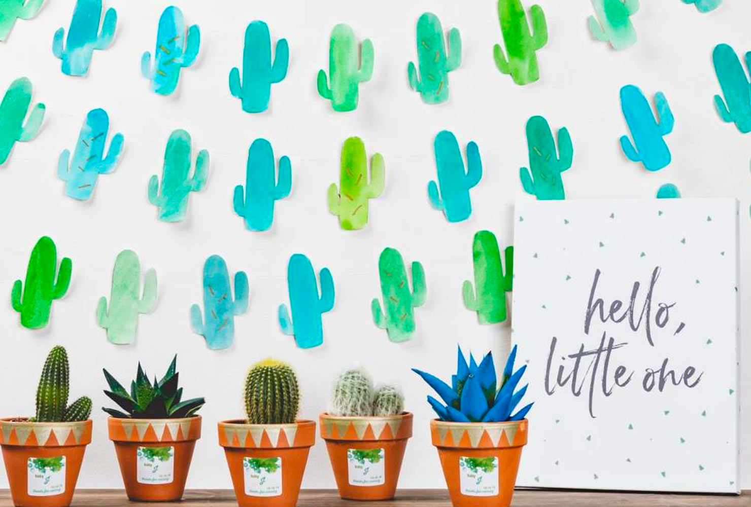 baby boy baby shower themes cactus banners