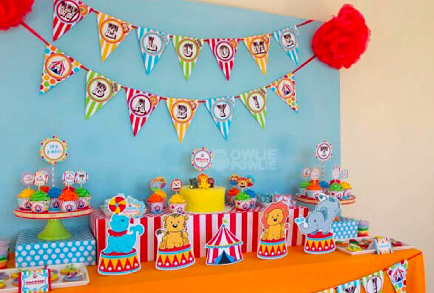 baby boy baby shower themes circus animals