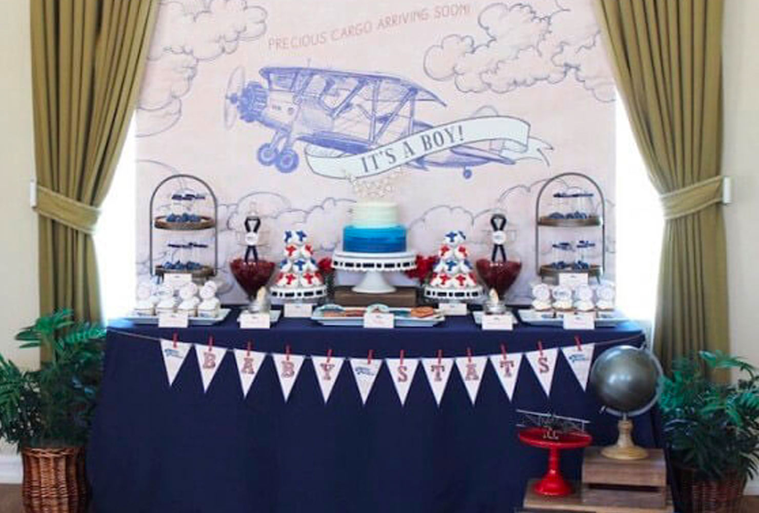 baby boy baby shower themes classic airplane
