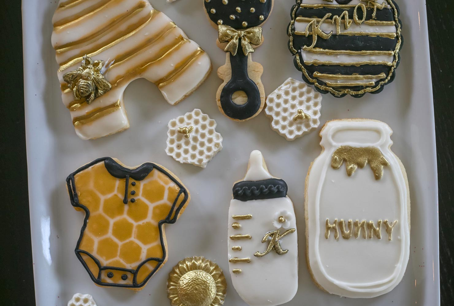 baby boy baby shower themes honey bee cookies