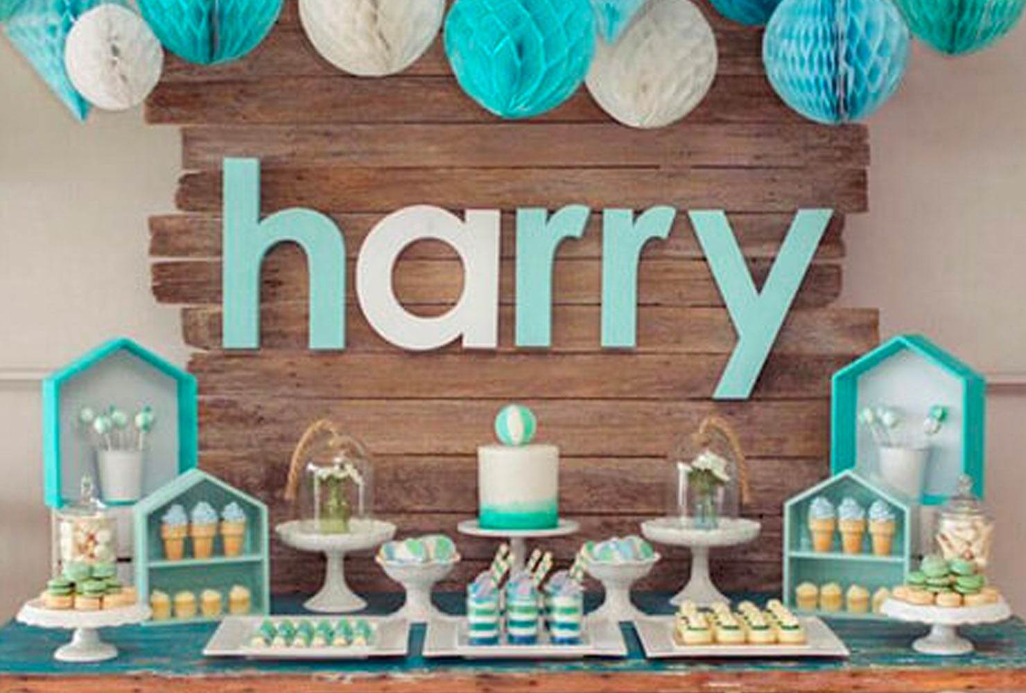 baby boy baby shower themes little blue houses