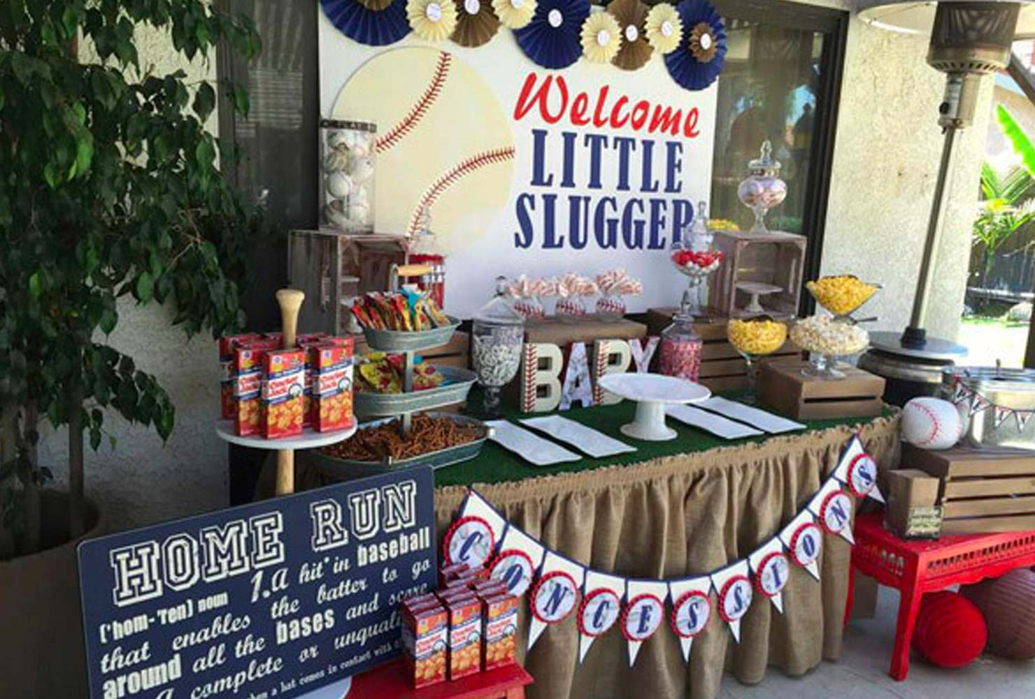 baby boy baby shower themes little slugger