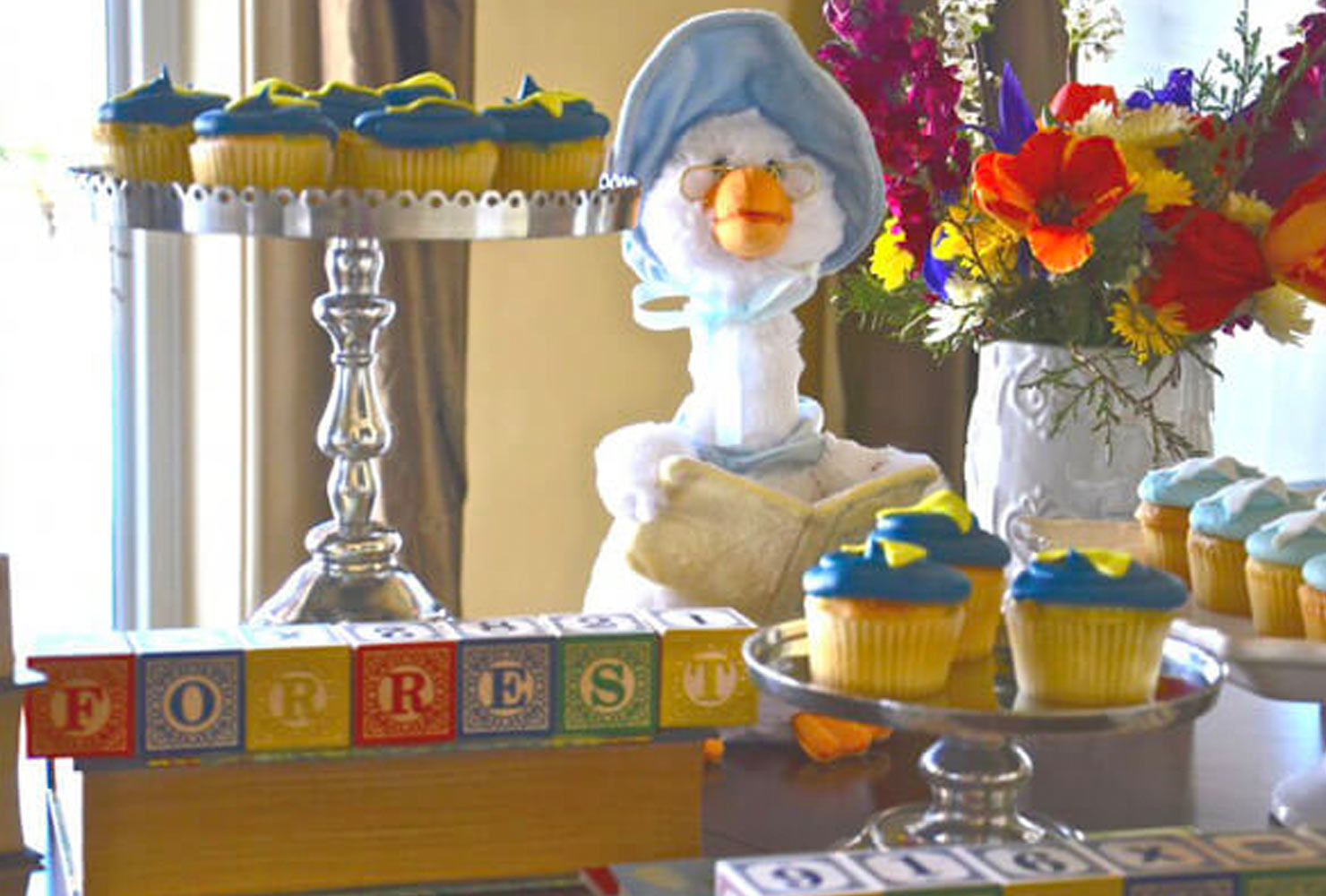 baby boy baby shower themes mother duck
