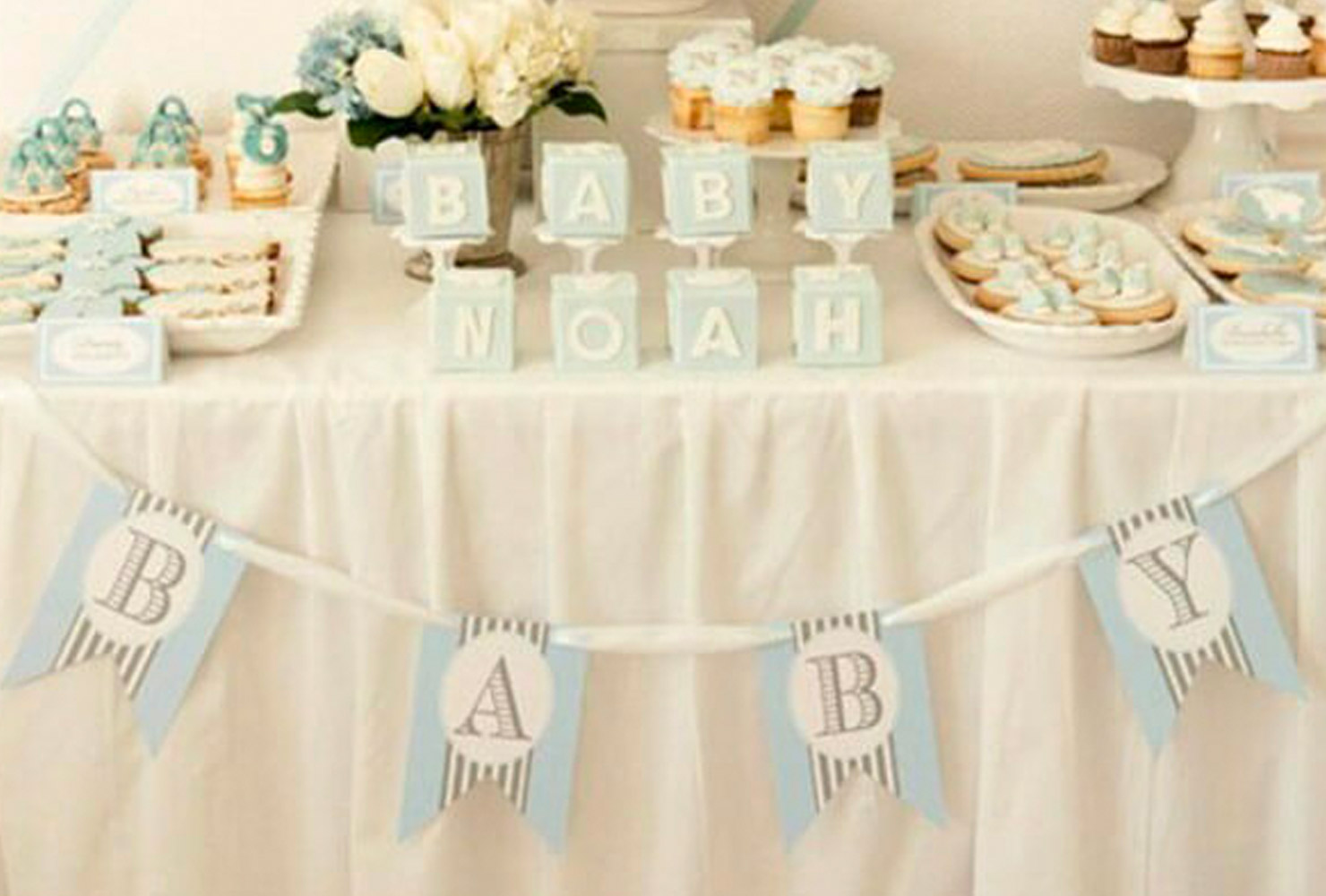 baby boy baby shower themes name stacking blocks