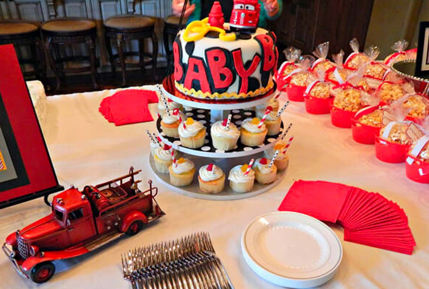 baby boy baby shower themes red trucks
