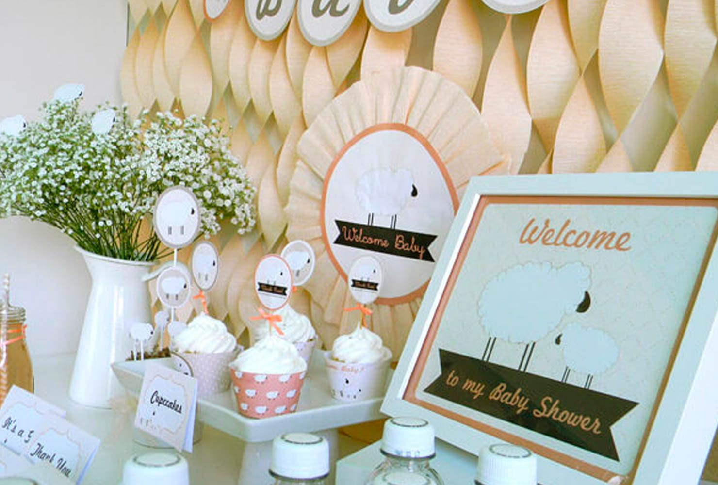 baby boy baby shower themes sheep decor