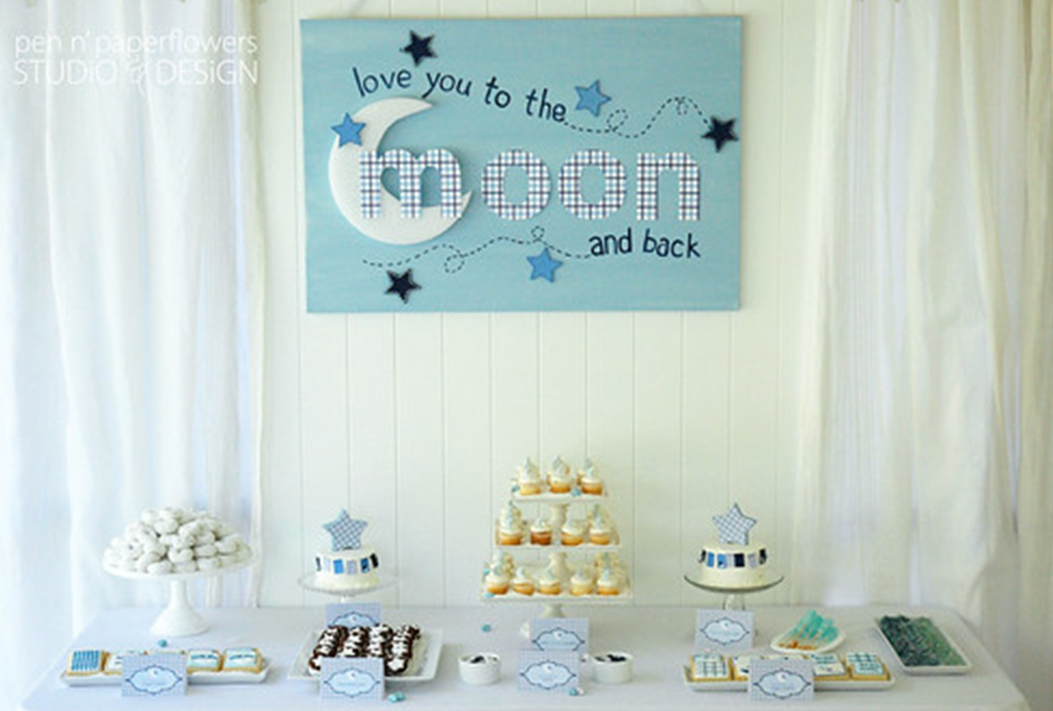 baby boy baby shower themes to the moon and back