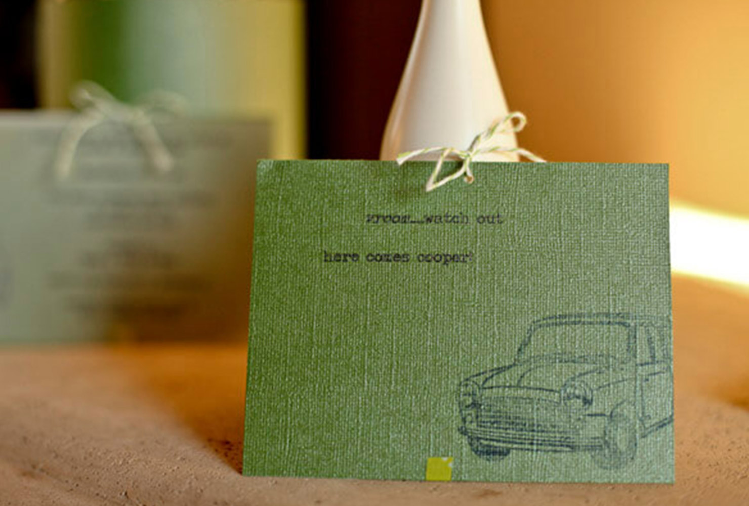baby boy baby shower vintage car note