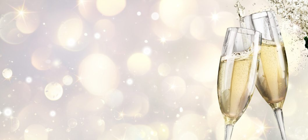 champagne-explosion-with-toast-of-flutes-picture-id625445054