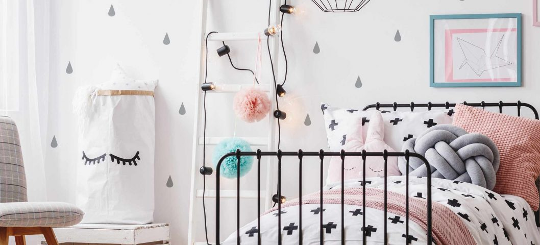 Girls bedroom decor.