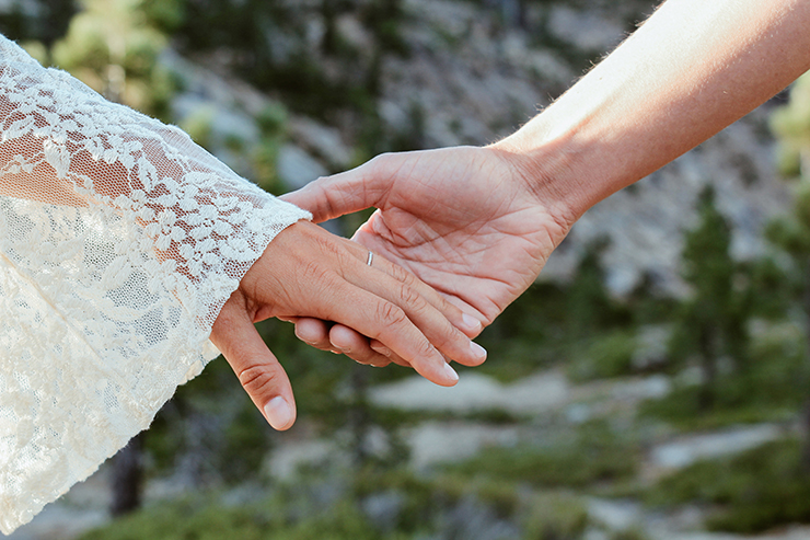 anniversary photo of couples hands