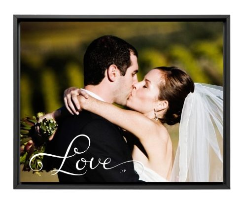 wedding canvas print gift