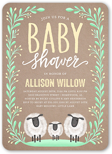 who hosts a baby shower