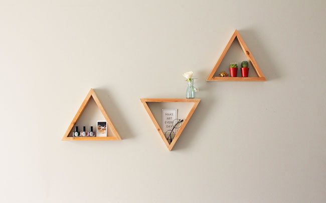 diy wooden shelves that make perfect wall art decor for home or office