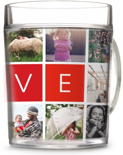 love collage cup perfect for mothers day present