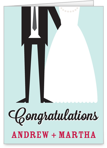 congratulations wedding card with cute graphics