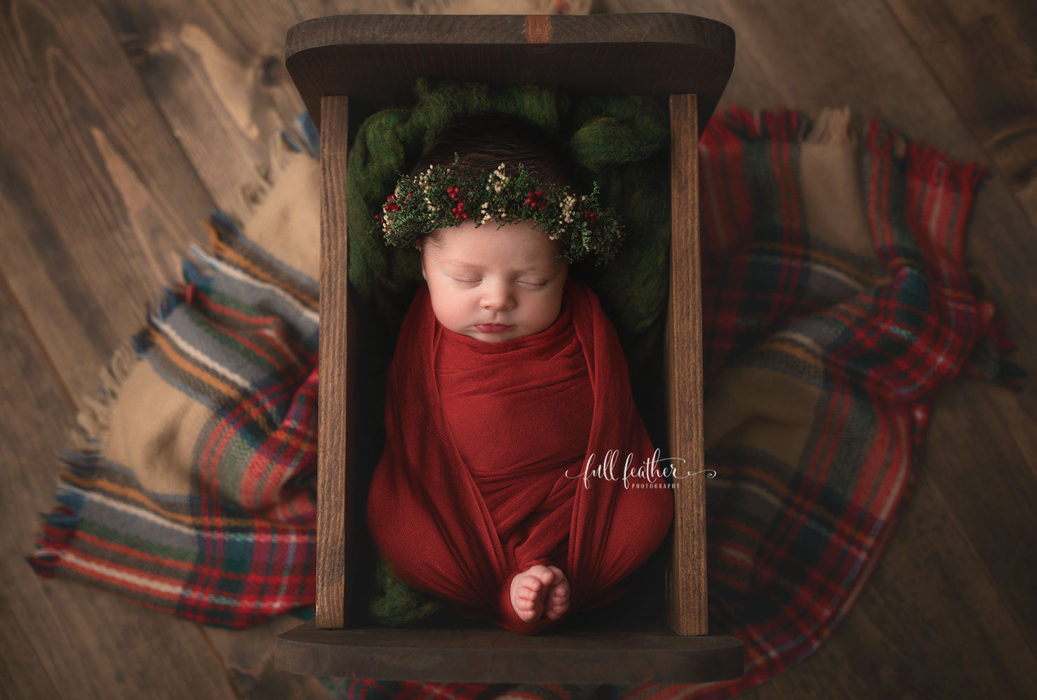 christmas baby announcement ideas cradled in love.