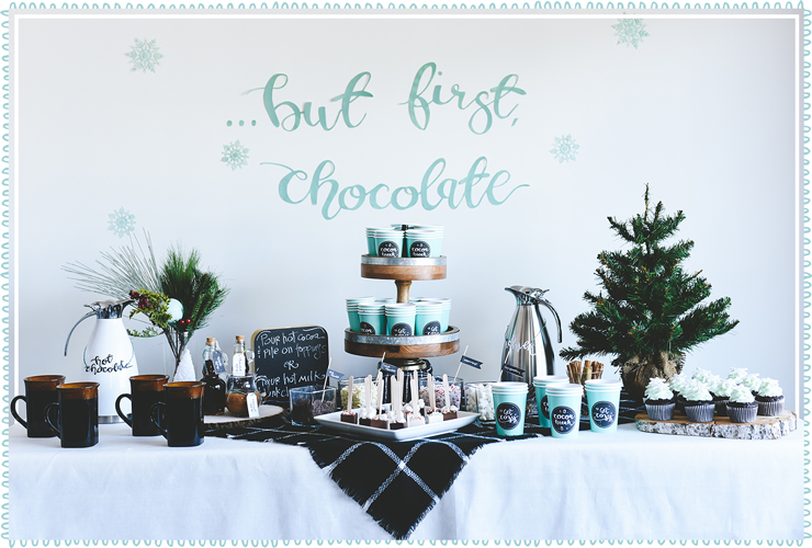 Full hot chocolate bar
