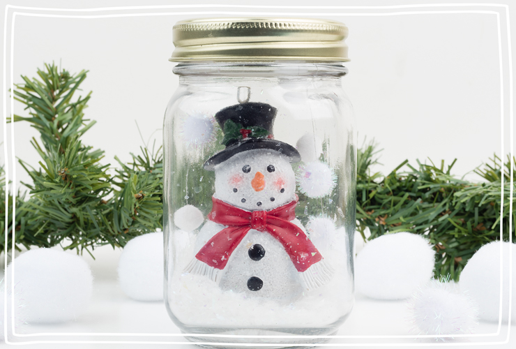 Snow globe without water