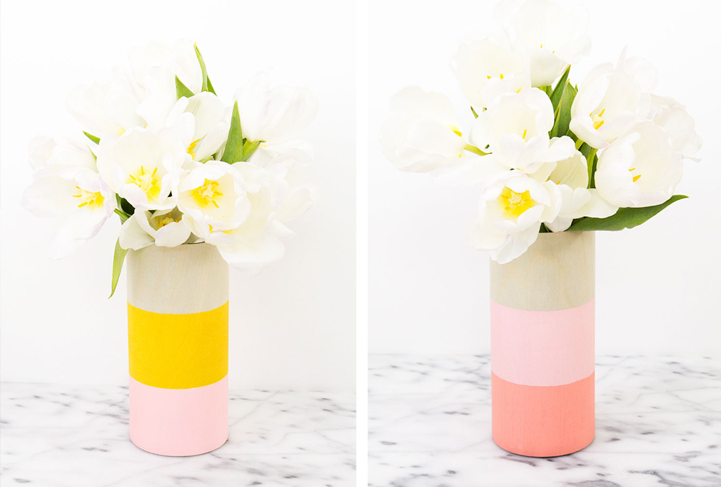 creative gift ideas colored vases