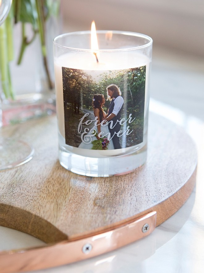 custom candle with photo