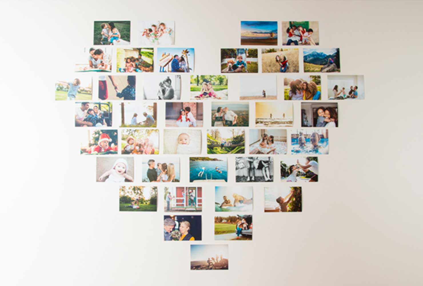 photos arranged in the shape of a heart