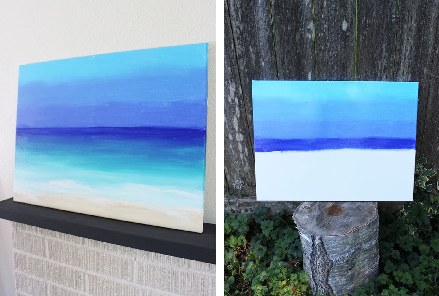 last minute gift ideas diy ocean painting