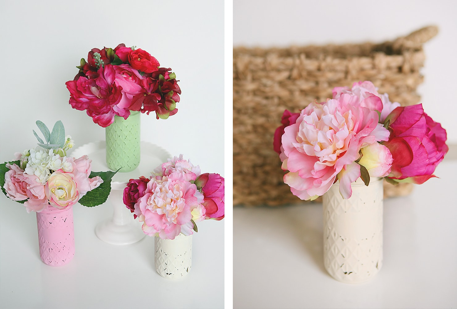 last minute gift ideas mason jar flower bouquets