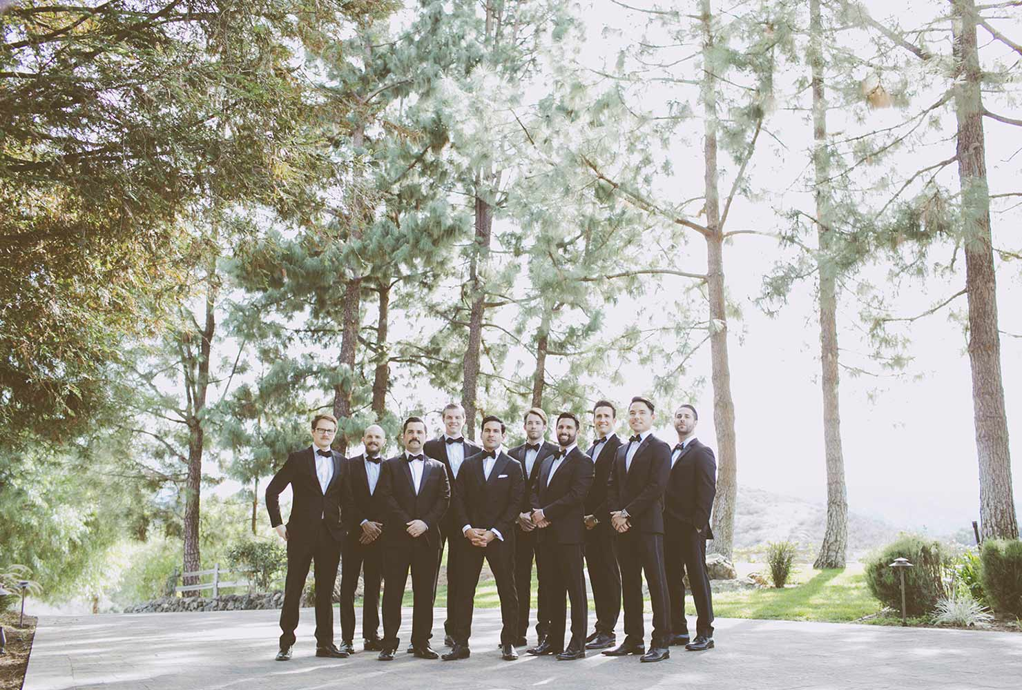Groomsman in woods