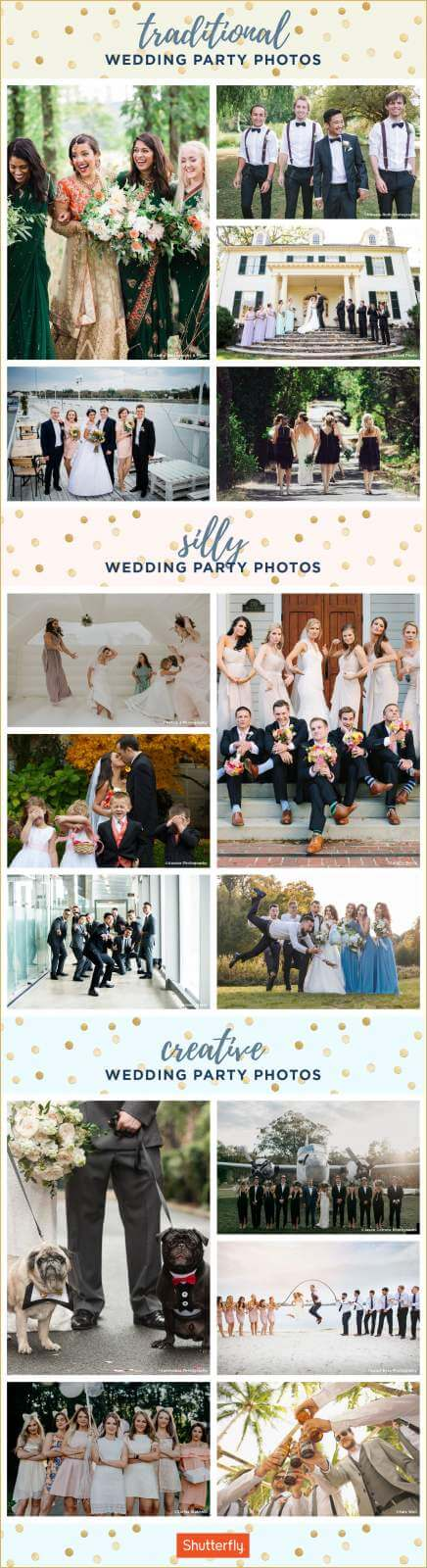wedding party photos infographic