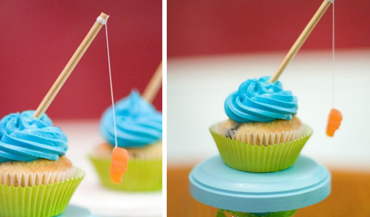 fathers day gift Go Fishing Cupcakes